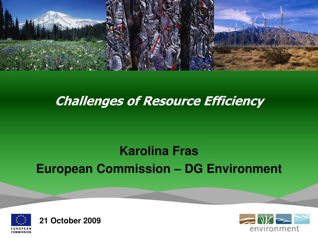 challenges of resource efficiency l.