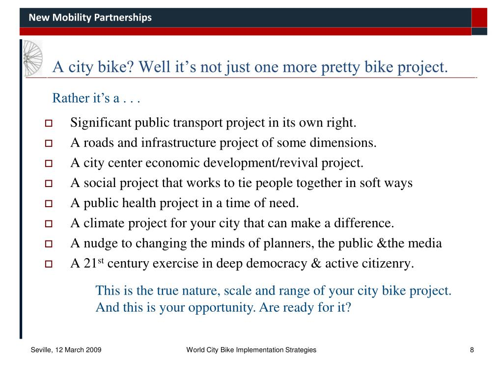A city bike? Well it's not just one more pretty bike project.