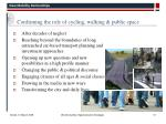 confirming the role of cycling walking public space