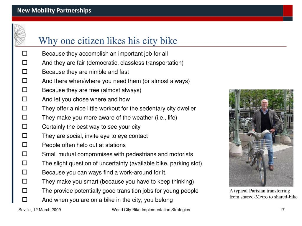 Why one citizen likes his city bike