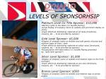 levels of sponsorhsip