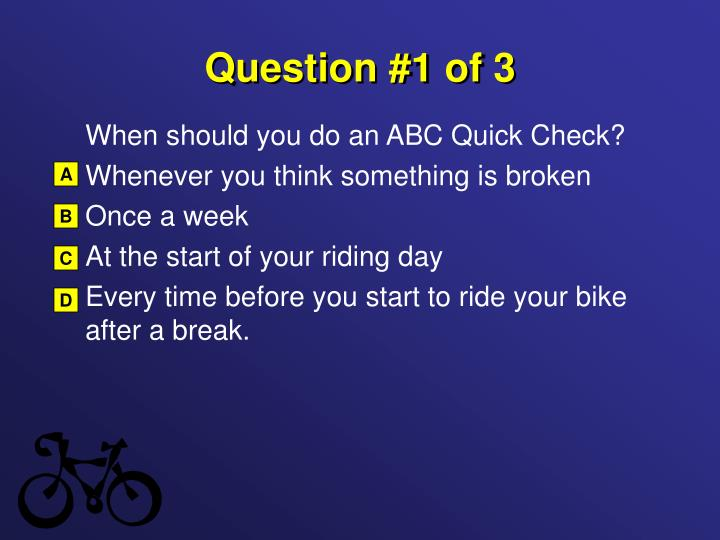 Question 1 of 3