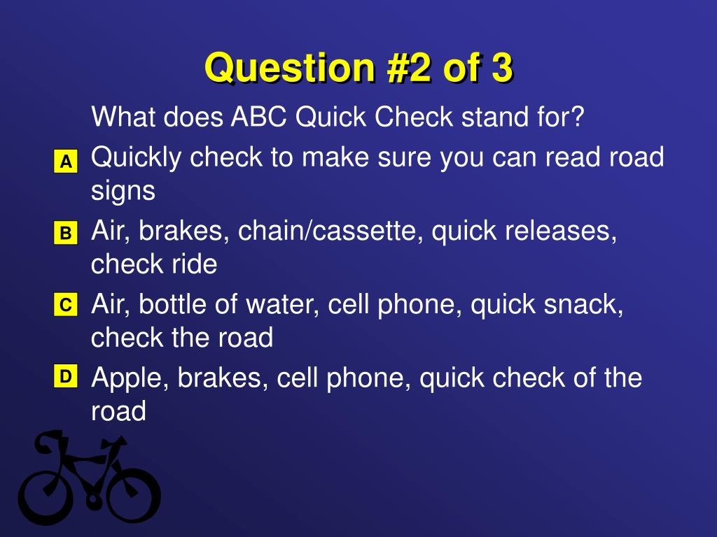 Question #2 of 3
