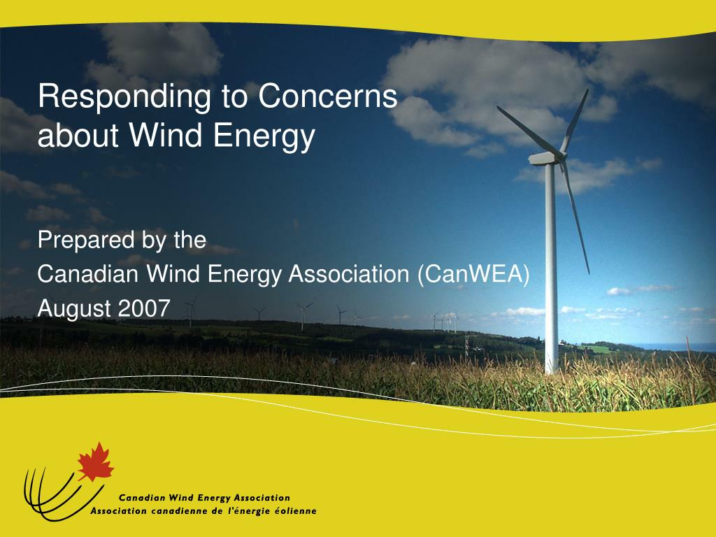 responding to concerns about wind energy l.