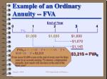 example of an ordinary annuity fva