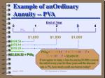 example of anordinary annuity pva