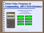future value frequency of compounding hp 17 b ii calculator