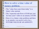 how to solve a time value of money problem