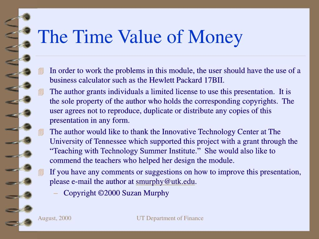 the time value of money l.