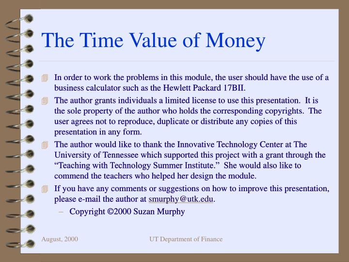 the time value of money n.