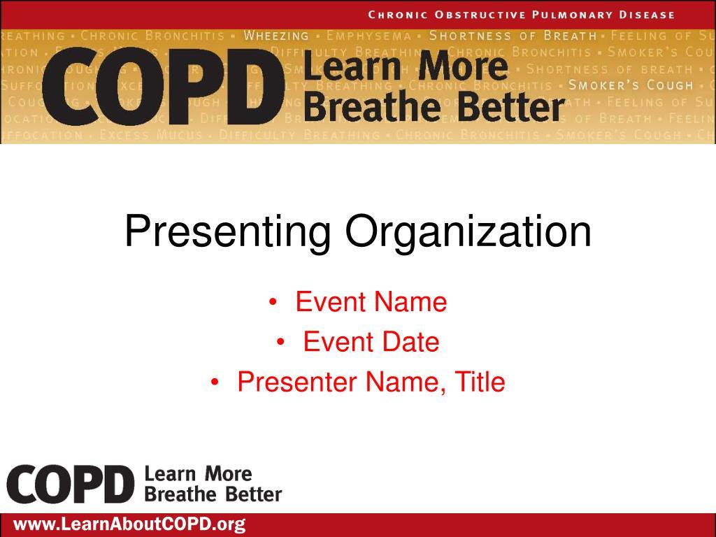 presenting organization l.