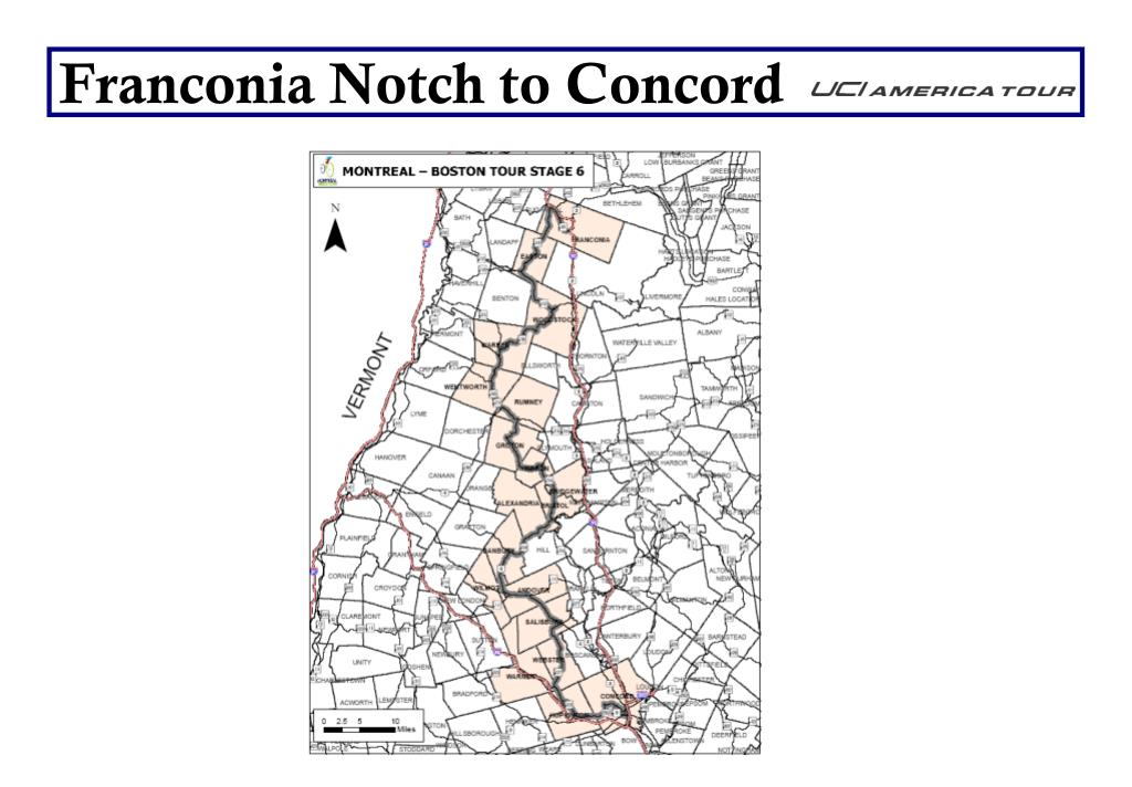 Franconia Notch to Concord