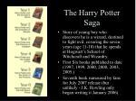 the harry potter saga