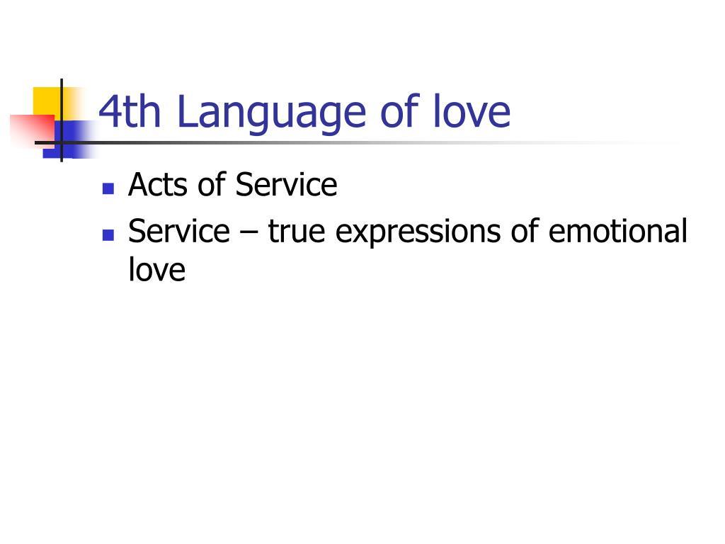 4th Language of love