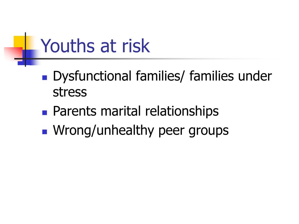 Youths at risk
