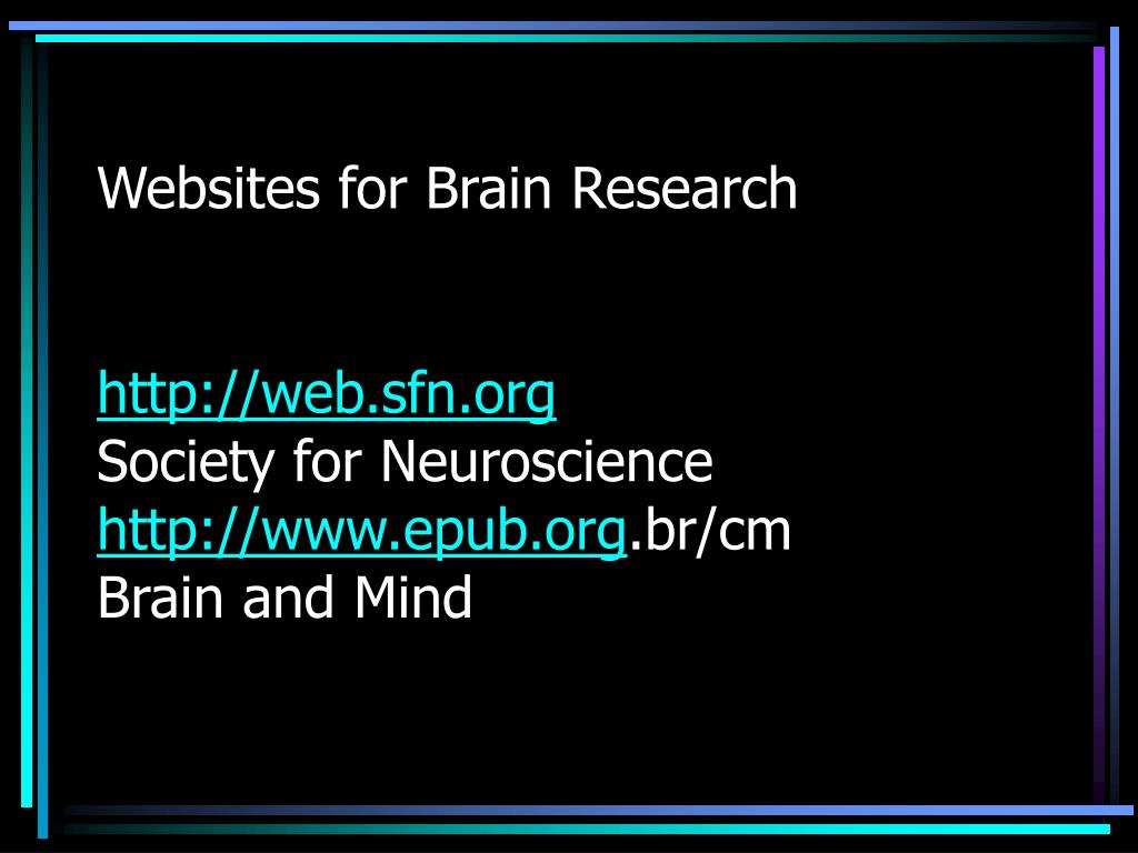 Websites for Brain Research