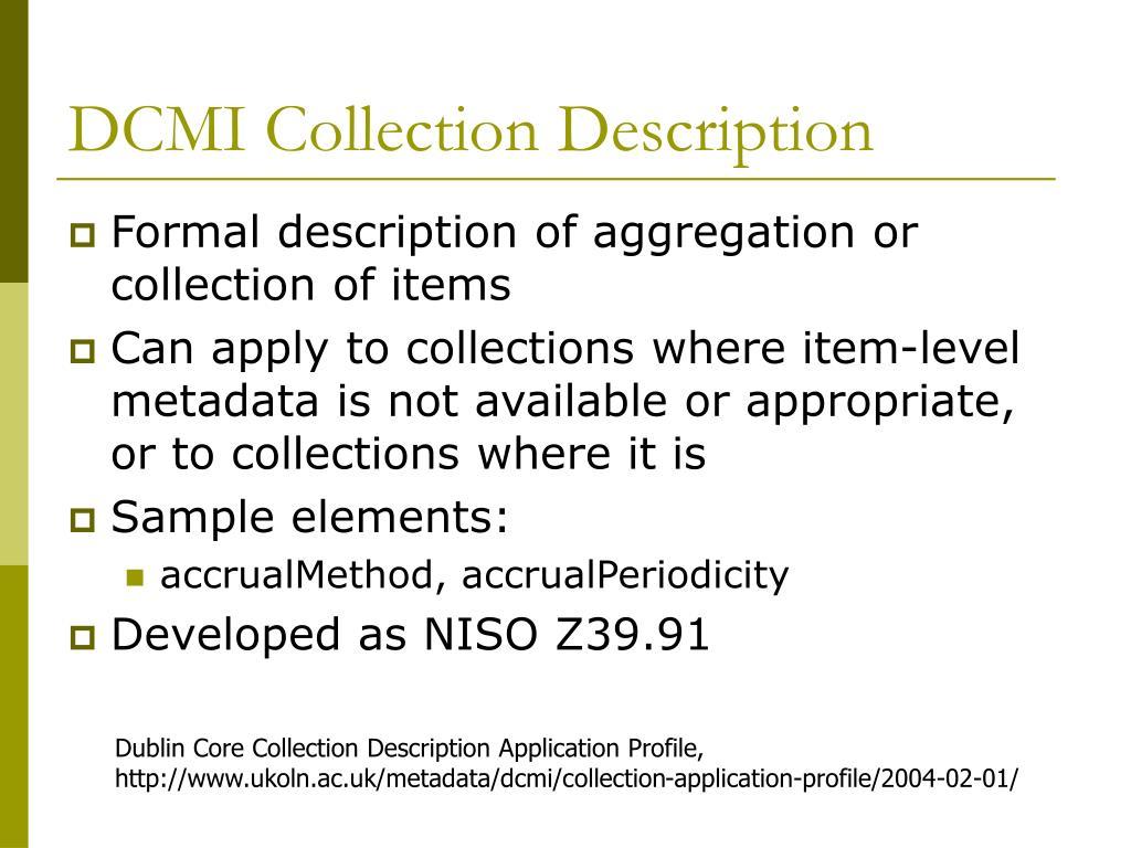 DCMI Collection Description