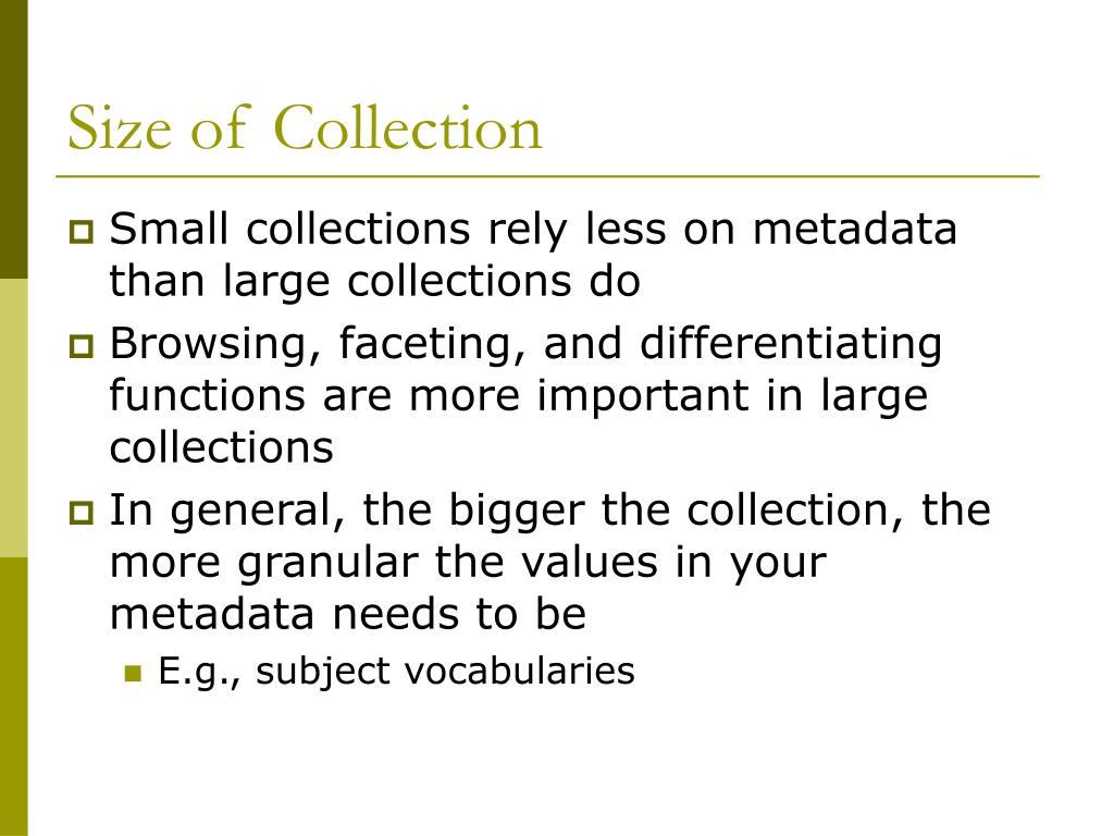 Size of Collection