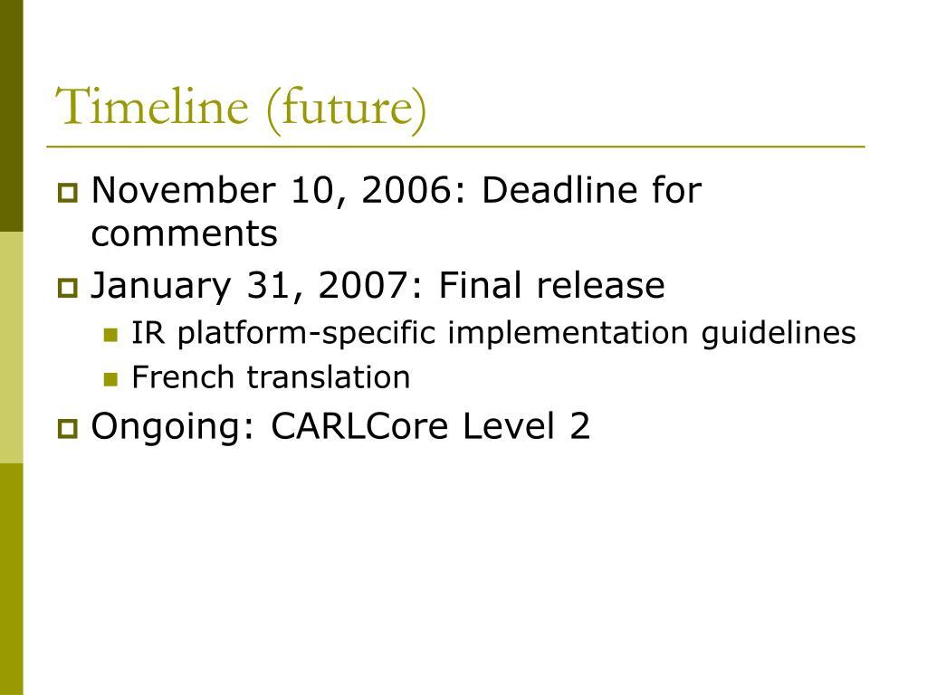 Timeline (future)