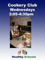 cookery club wednesdays 3 05 4 30pm