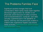 the problems families face