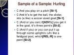 sample of a sample hurling