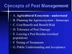 concepts of pest management