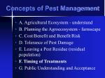 concepts of pest management33