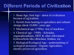 different periods of civilization