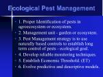 ecological pest management