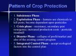 pattern of crop protection