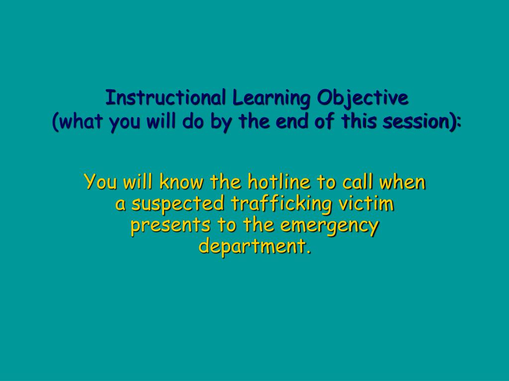 Instructional Learning Objective