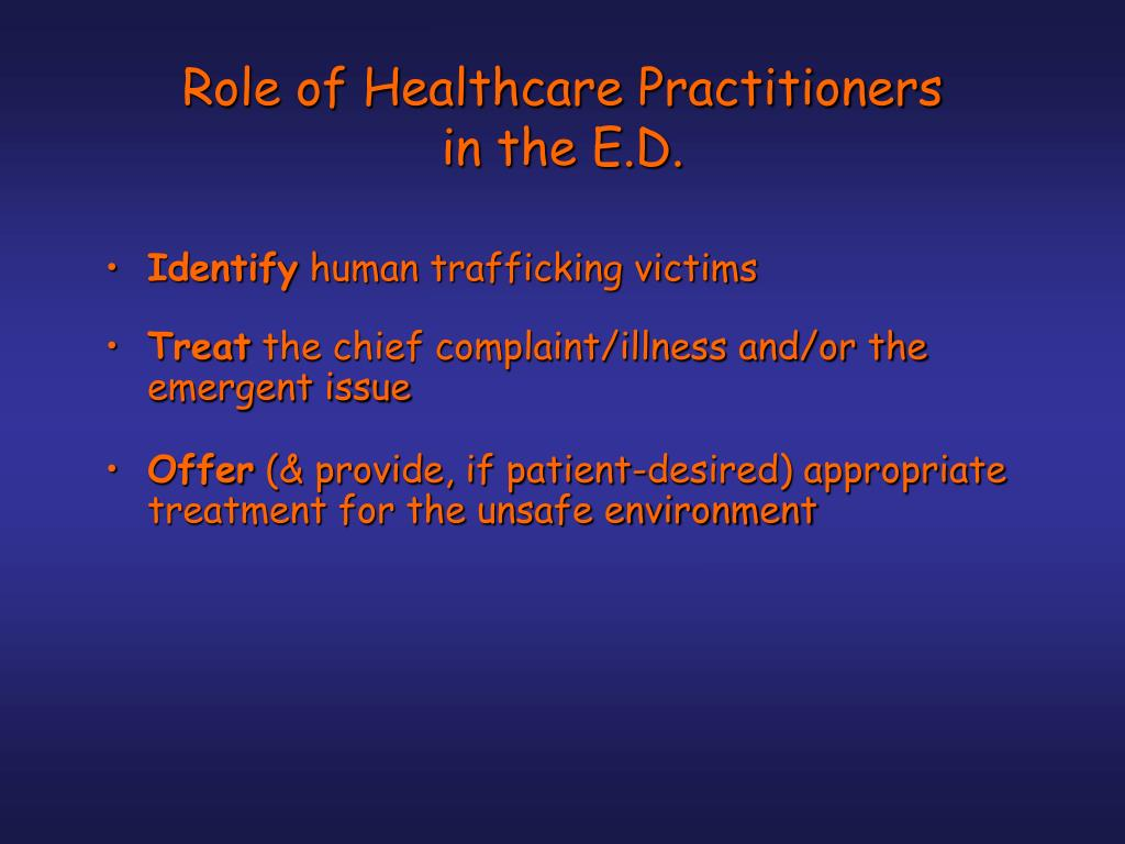 Role of Healthcare Practitioners