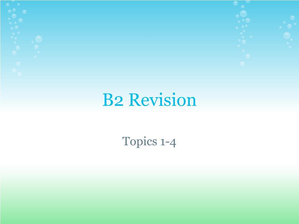b2 revision l.