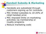 handset subsidy marketing