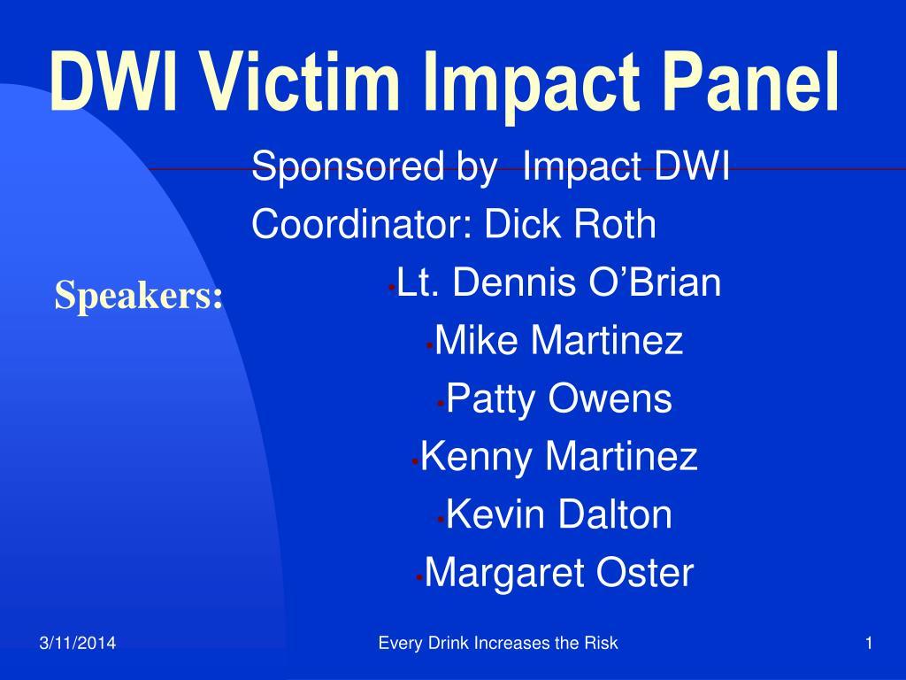 ppt dwi victim impact panel powerpoint presentation id 281156