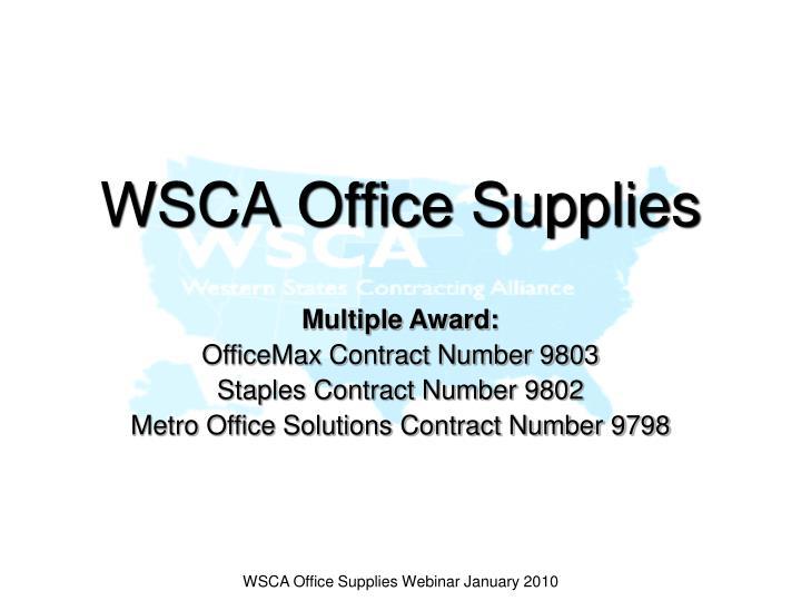 wsca office supplies n.