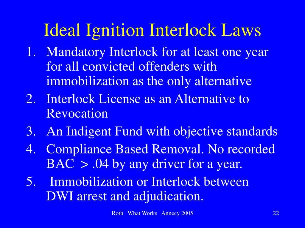 Ideal Ignition Interlock Laws