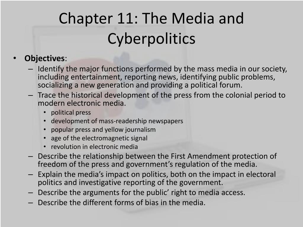 chapter 11 the media and cyberpolitics l.