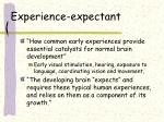 experience expectant