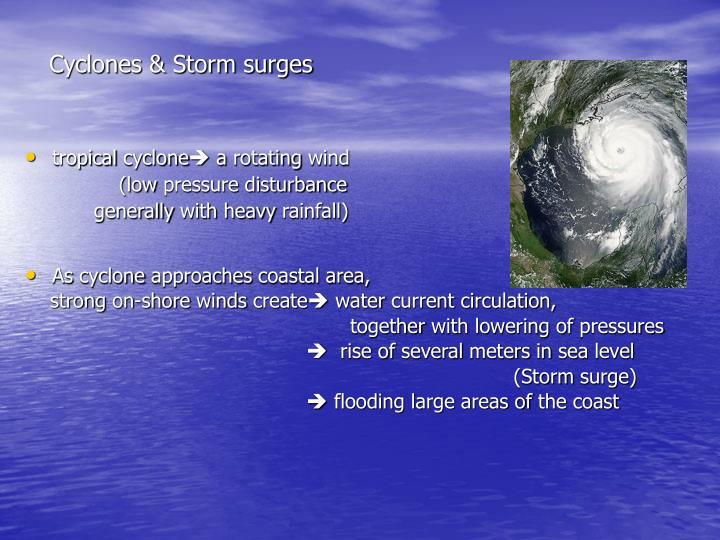 Cyclones storm surges
