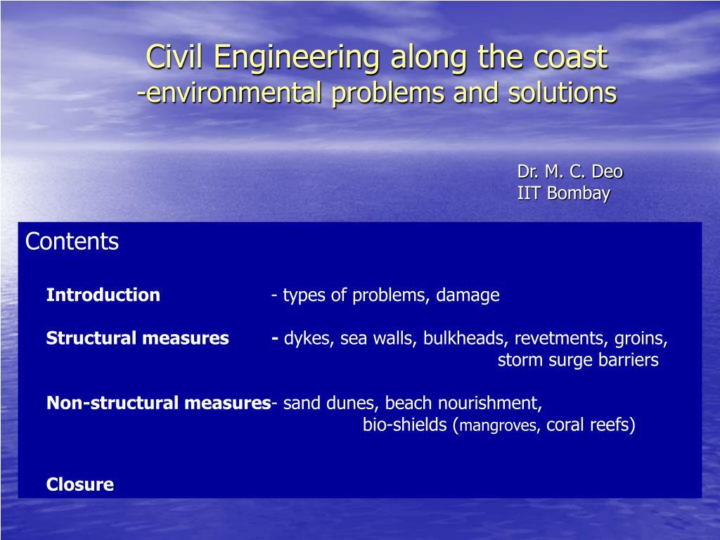 Civil Engineering along the coast