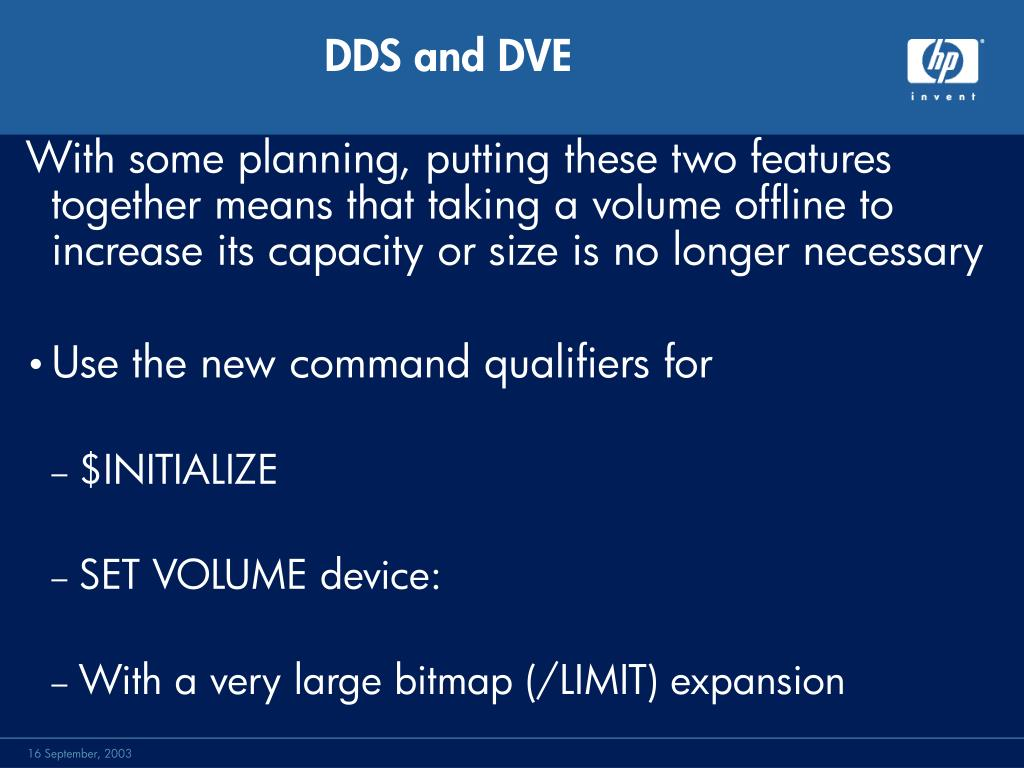 DDS and DVE
