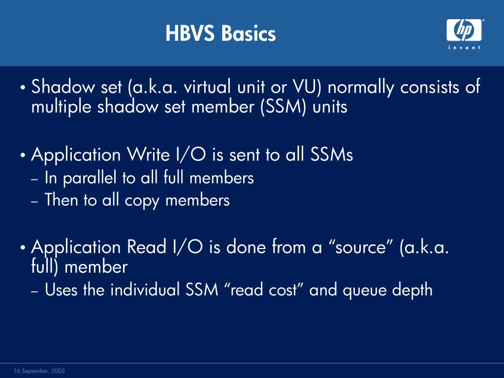 HBVS Basics