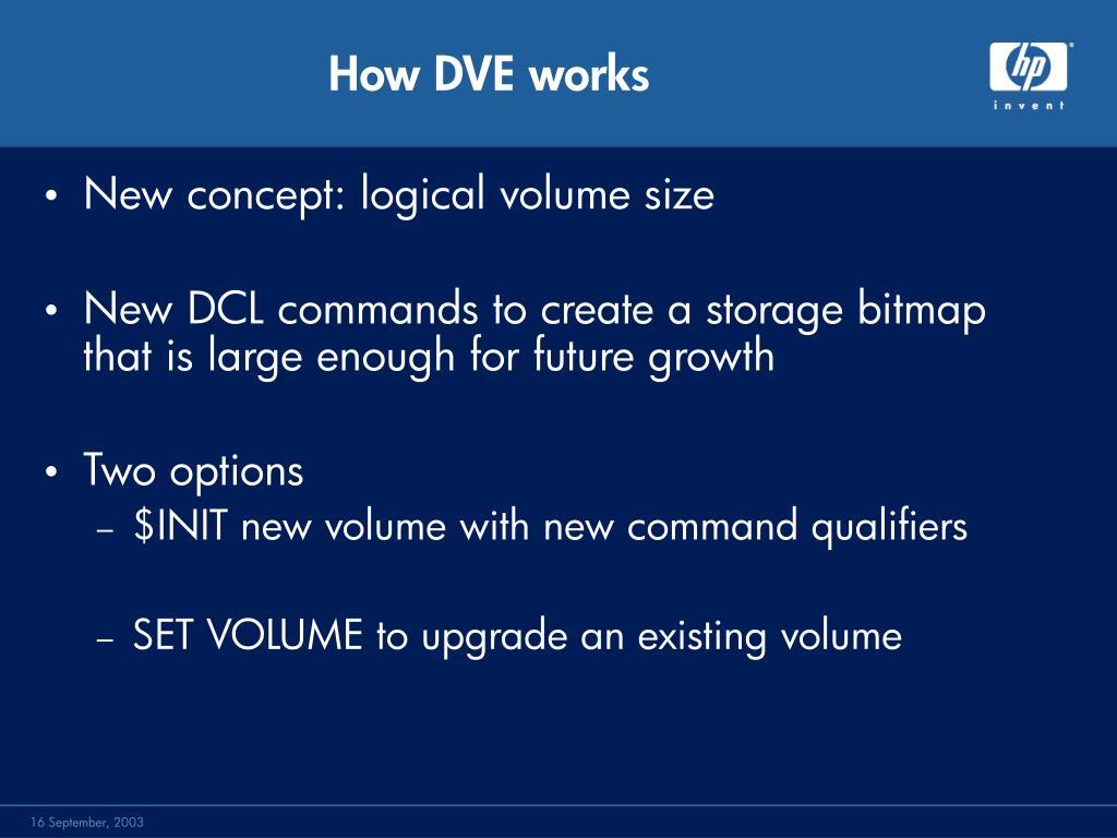 How DVE works