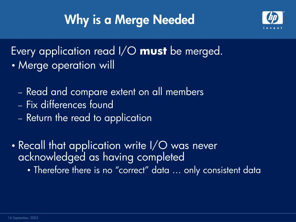 Why is a Merge Needed
