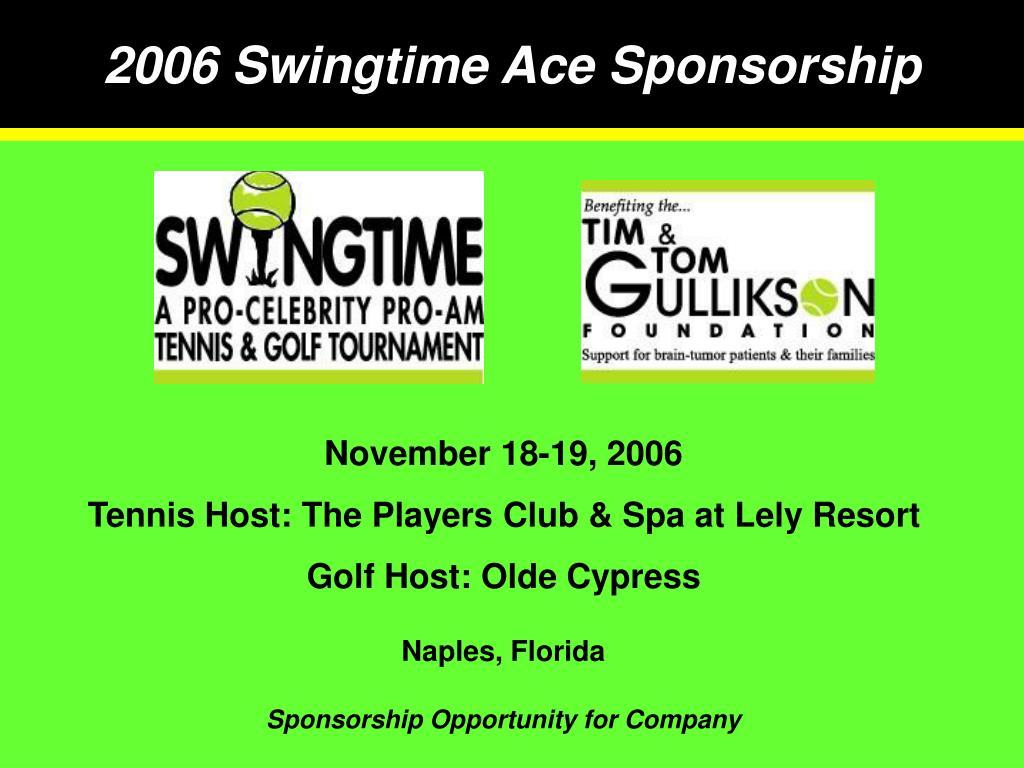 2006 swingtime ace sponsorship l.
