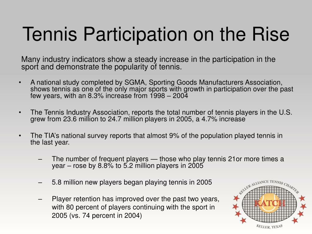 Tennis Participation on the Rise