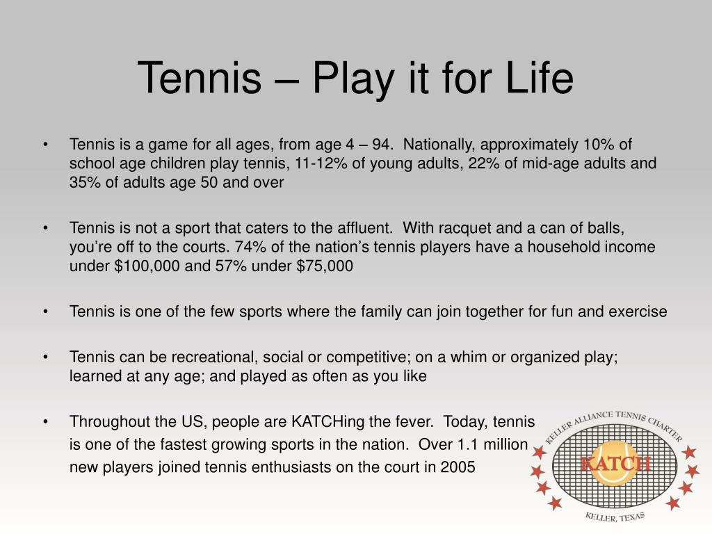 Tennis – Play it for Life