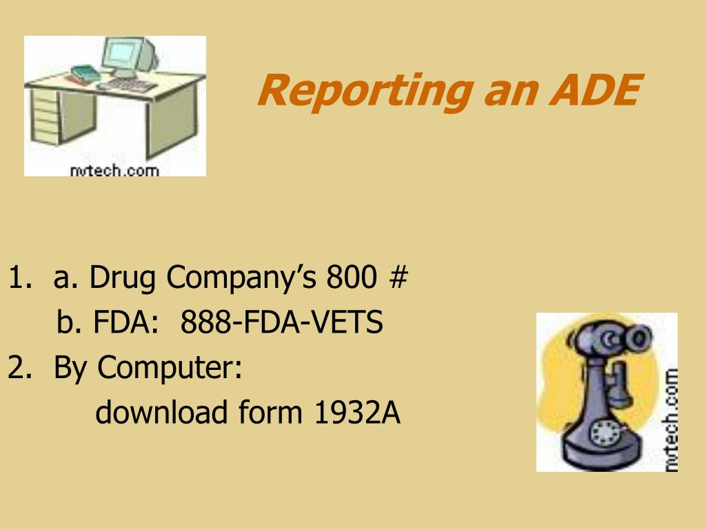 Reporting an ADE